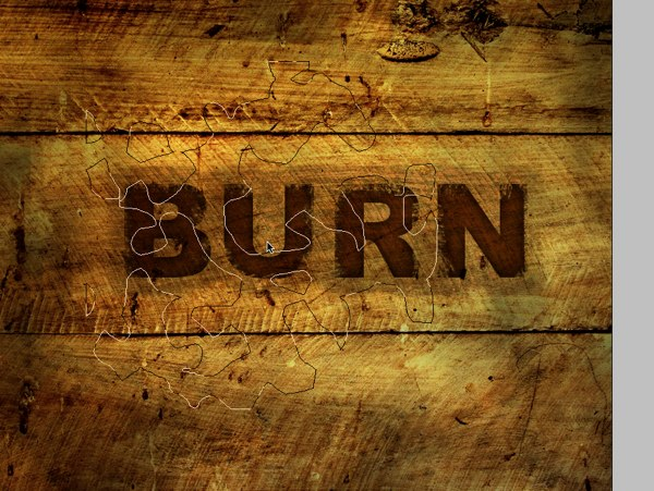 Burnt Wood Text Effect Photoshop Tutorial