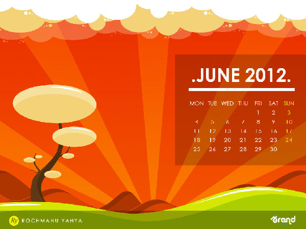 June 2012 Calendar Wallpaper