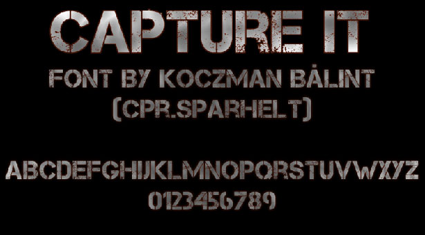 Capture It | Free Font
