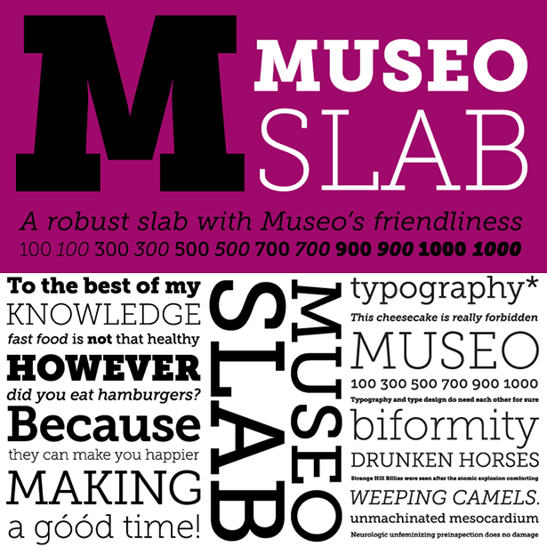 graphic relating to Free Printable Fonts No Download named Free of charge Font: Museo Slab