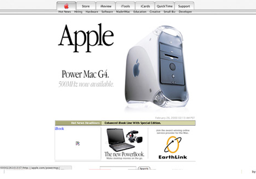 Apple.com in 2000