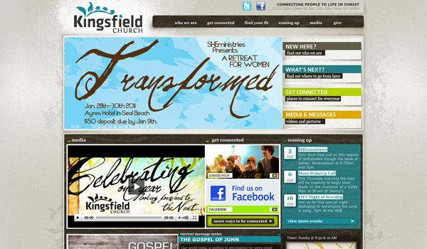 kingsfield church church website design ideas - Church Website Design Ideas