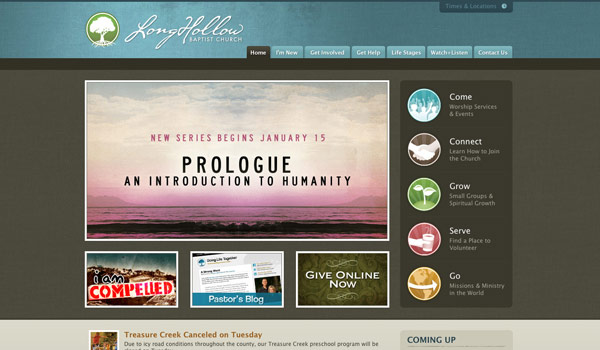of the Best Church Website Designs
