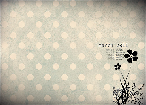 Desktop Wallpaper Calendar March 2011