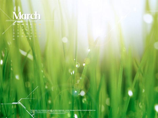 Desktop Wallpaper Calendar March 2011