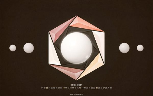April 2011 Desktop Wallpaper Calendar 1