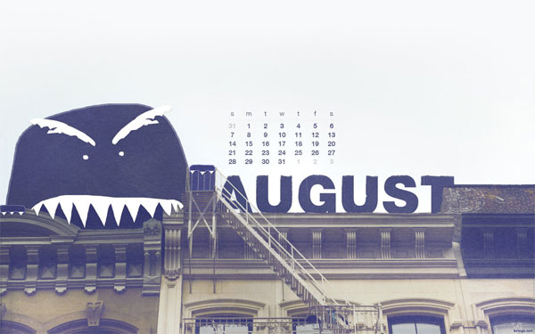 monster wallpaper august 2011 calendar