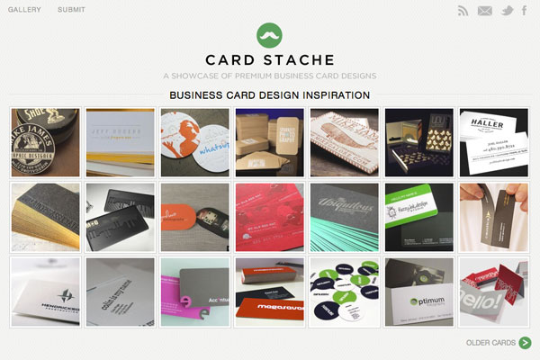 Business Card Gallery Screenshot