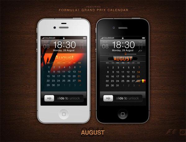 iphone calendar wallpaper for august 2011