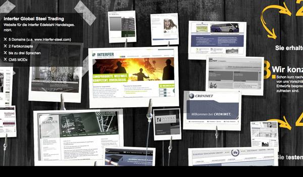 精美案例展示:立体动感的视差滚动效果网站作品