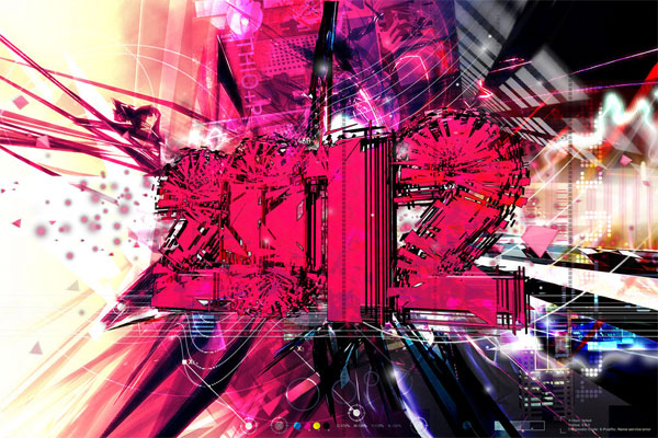 Pink Techno 2012 Desktop Wallpaper