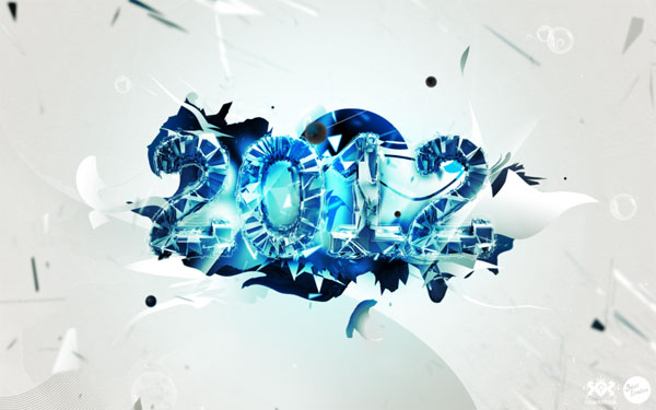 2012 Desktop Wallpaper - Blue Ice
