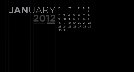 Black Desktop Wallpaper - January 2012