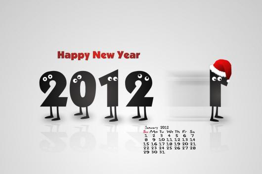 January 2012 Wallpaper Calendar