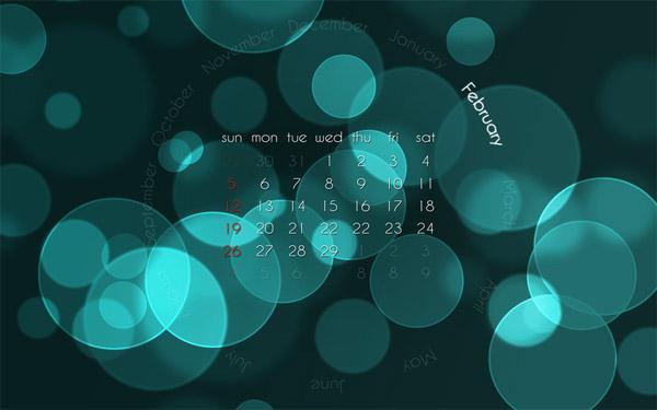February Bokeh Calendar 2012