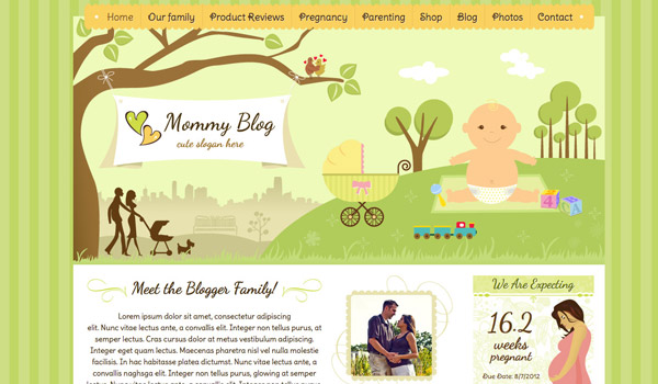 Illustrated Mommy blog