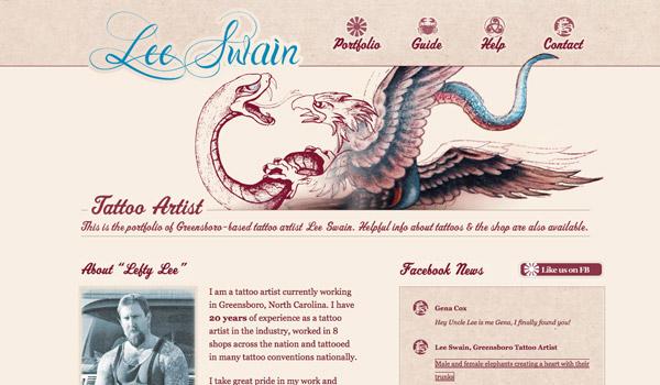 Tattoo Artist Illustrated Website