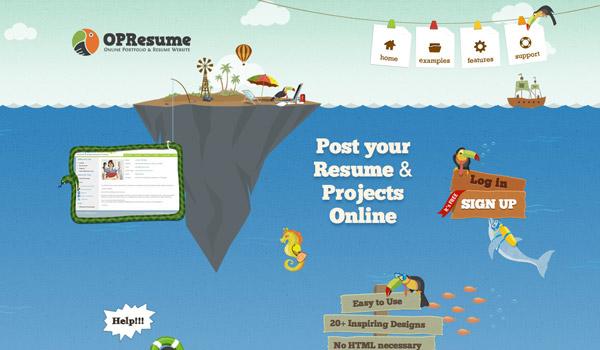 Ocean Illustration Web Design
