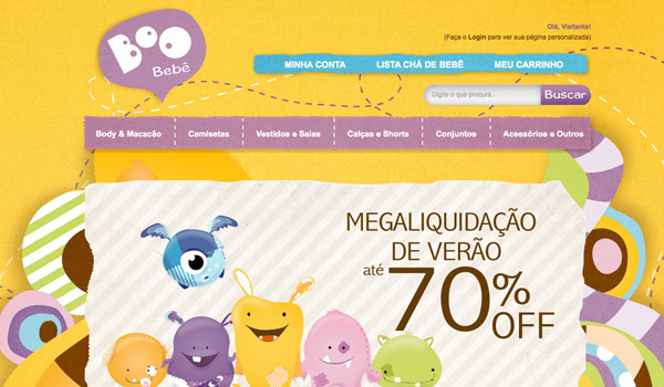 Baby Website with Illustration