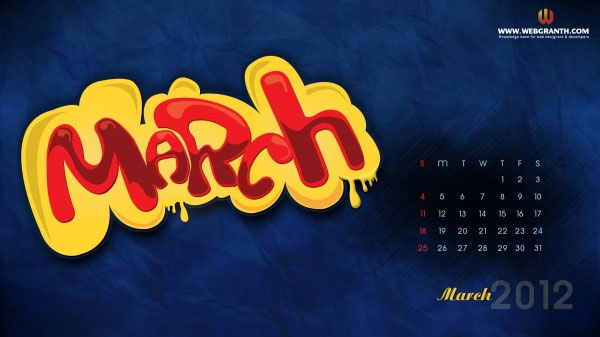 Bubbly Wallpaper for March 2012
