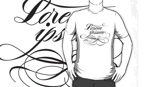 214066ea8226 30 Beautiful Typographic T-Shirts