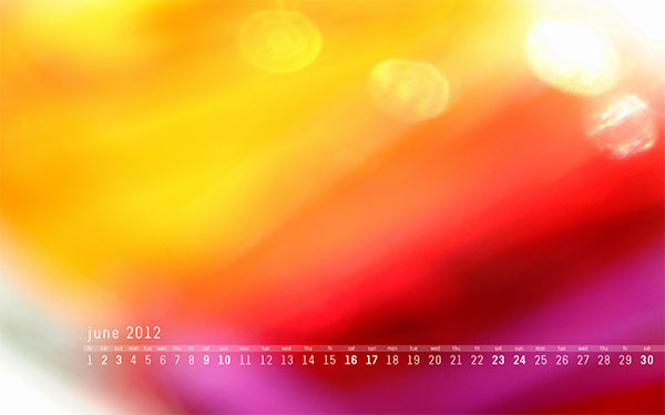 June 2012 Desktop Wallpaper Calendar