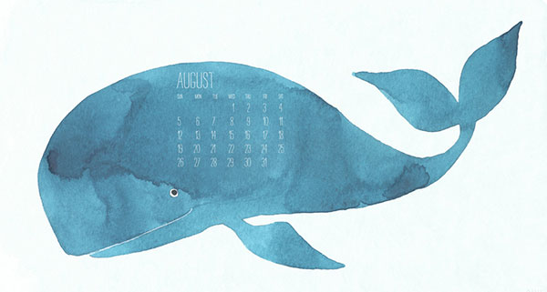 August Blue Whale Wallpaper