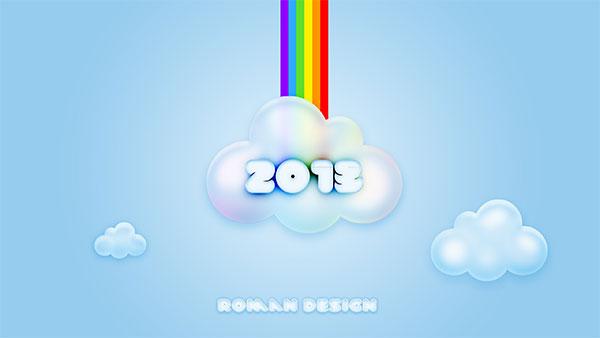 cloud rainbow 2013 desktop wallpaper