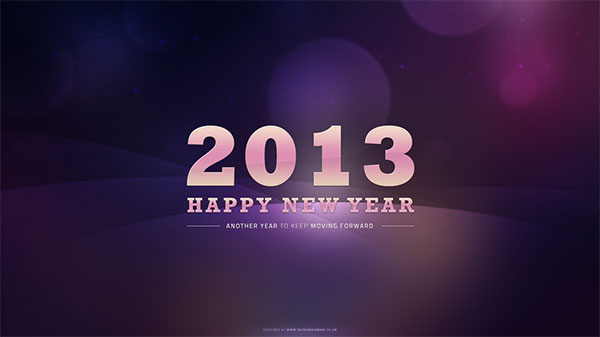 purple bokeh new years 2013 wallpaper