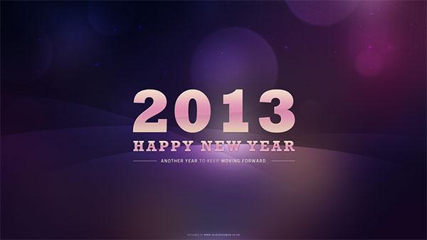 purple bokeh new years 2013 wallpaper